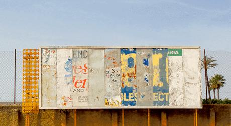 Dilapidated billboard, Tarifa, Spain